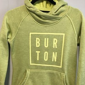 Burton live green pullover hooded sweatshirt U7